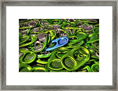 Monster Can Tabs Detroit Mi Framed Print by Nicholas  Grunas