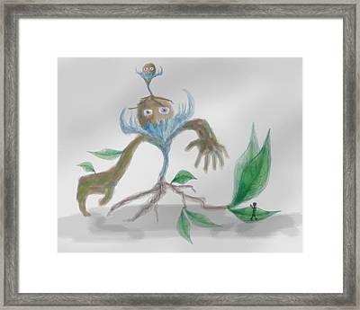 Monster Tree Framed Print by Sebopo Art