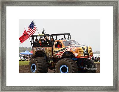 Monster Truck 7d15128 Framed Print by Wingsdomain Art and Photography