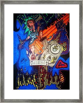 Monster Vocals Framed Print by Ragdoll Washburn