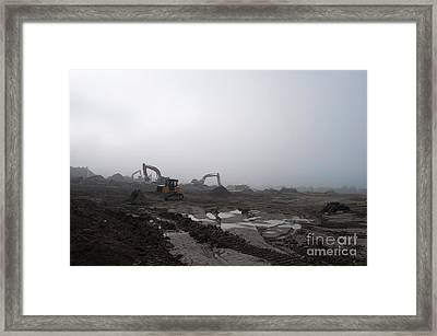Monsters Destruction Framed Print by Gary Chapple