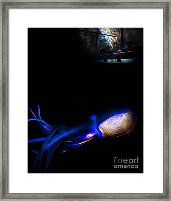 Monsters Of The Open Ocean Framed Print by Wingsdomain Art and Photography