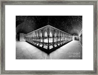 Mont Saint Michel Monastery Inner Court Framed Print