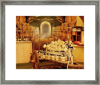 Montalcino Wine Shop Framed Print