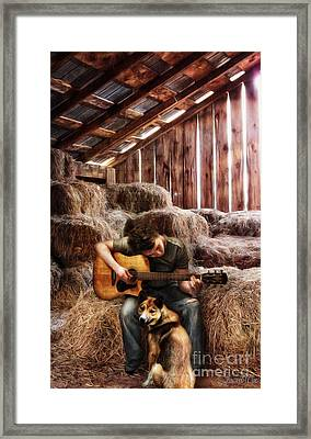 Montana Boy Framed Print by Shawna Mac