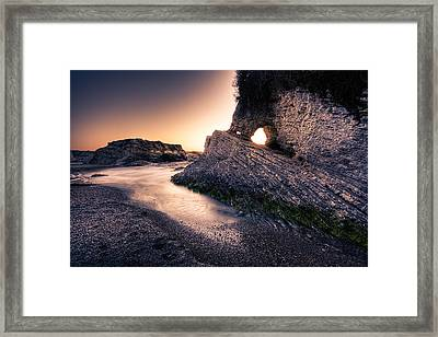 Montana De Oro After Sunset Framed Print by Matt  Trimble