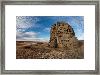 Montana Medicine Rocks Framed Print by Leland D Howard