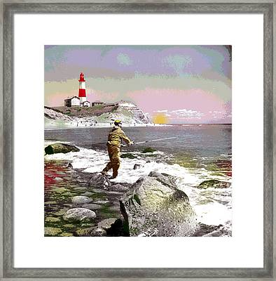 Montauk Point Lighthouse Framed Print by Charles Shoup