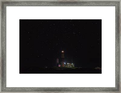 Montauk Starry Night Framed Print by William Jobes