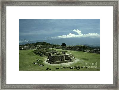 Monte Alban Plaza Framed Print by John  Mitchell