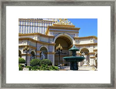 Monte Carlo Casino Resort Framed Print by Mariola Bitner