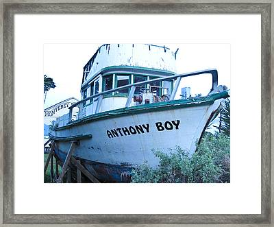 Monterey Boat Framed Print