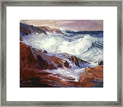Monterey Coast Framed Print by David Lloyd Glover