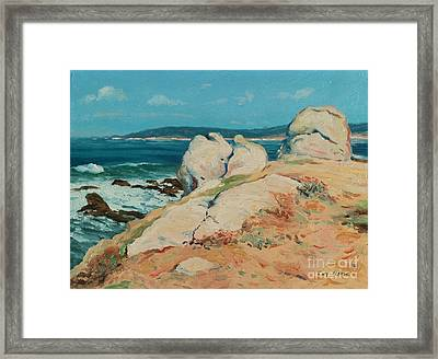 Monterey Coast Framed Print by Guy Rose