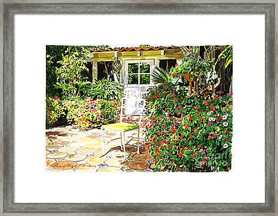 Monterey Guest House Framed Print by David Lloyd Glover