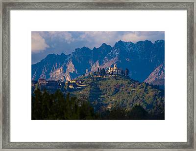Montevecchia And Resegone Framed Print by Marco Busoni