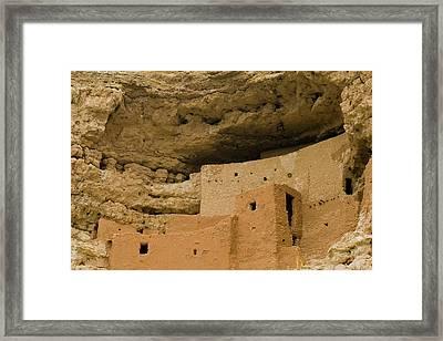 Framed Print featuring the photograph Montezuma's Castle by Tom Singleton