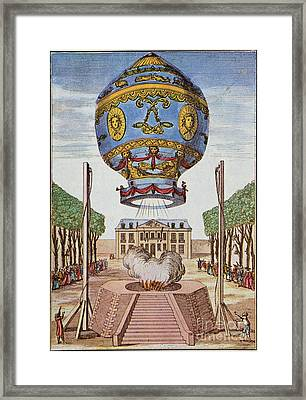 Montgolfier Hot Air Balloon Framed Print by Science Source
