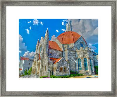 Montgomery Baptist Church Hdr Framed Print