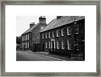 Montgomery Street In 18th Century Gracehill Village A Moravian Settlement In County Antrim Framed Print