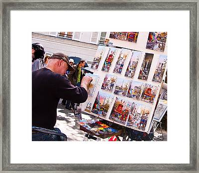 Montmartre Street Artists Framed Print by Jon Berghoff