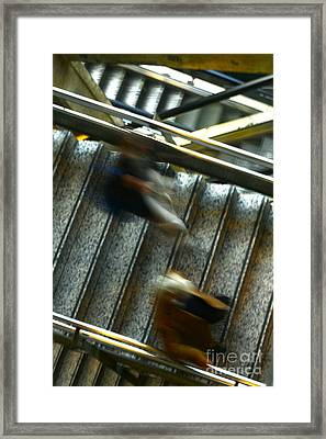 Framed Print featuring the photograph Montparnasse Station by Danica Radman