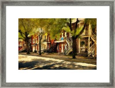 Montreal Street Framed Print