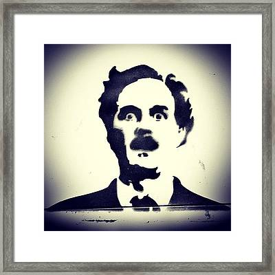 #montypython #johncleese #comedy Framed Print by A Rey
