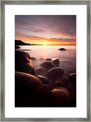 Monument Cove Acadia Framed Print by Chad Tracy