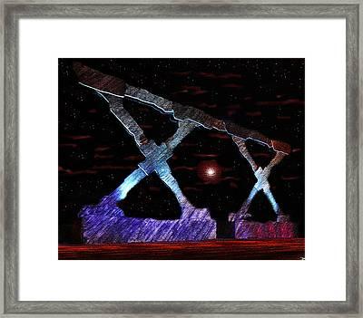 Monument On Planet X Framed Print