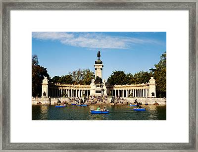 Monument To Alfonso Xii Framed Print