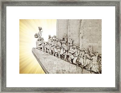 Monument To Discoveries Framed Print by Carlos Caetano