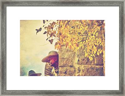 Monument To The Cowboy Framed Print by Toni Hopper