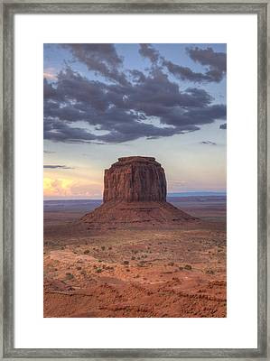 Monument Valley - Merrick Butte Framed Print by Saija  Lehtonen