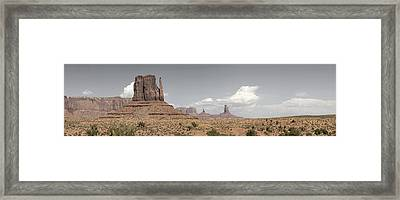 Framed Print featuring the pyrography Monument Valley Desert Large Panorama by Mike Irwin