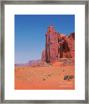 Monument Valley Elrphant Butte And Hogan Framed Print by Rich Walter