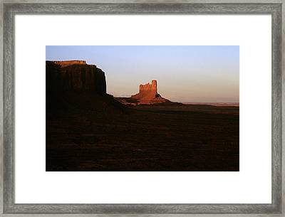 Monument Valley Mitten With Butte Framed Print