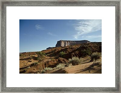 Monument Valley Morning Framed Print by Wilma  Birdwell
