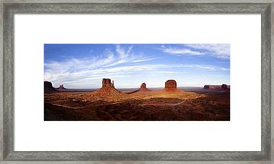 Monument Valley Panorama Framed Print by Andrew Soundarajan