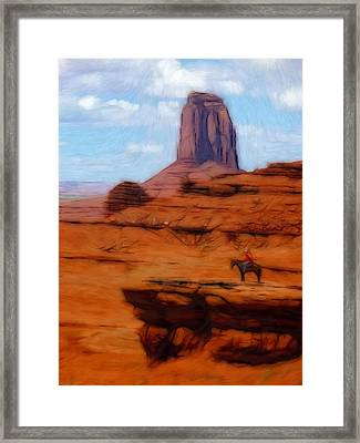 Monument Valley Pastel Framed Print by Steve K