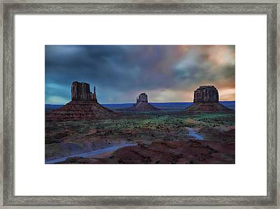Framed Print featuring the photograph Monument Valley by Renee Hardison