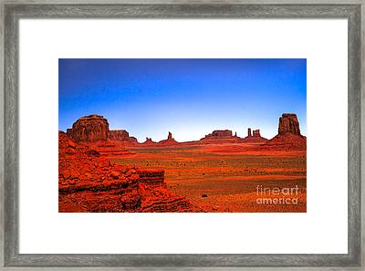 Monument Valley Framed Print by Robert Bales