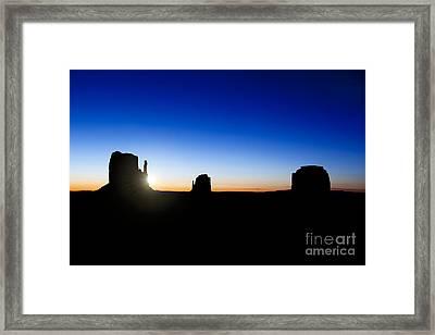 Monument Valley Sunrise Framed Print by Jane Rix