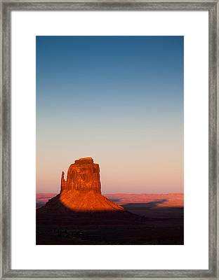 Monument Valley Sunset Framed Print by Dave Bowman