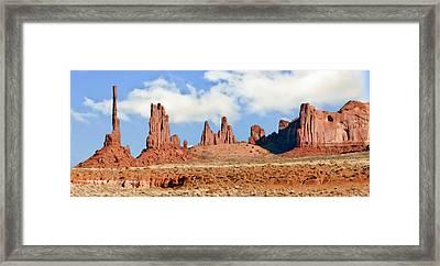 Monument Valley Totem Pole Framed Print by Bob and Nadine Johnston