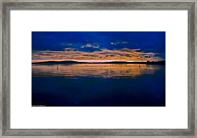 Moody Blue Framed Print by Mitch Shindelbower