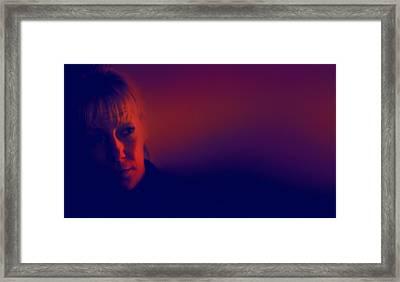 Moody Blues Framed Print by Li   van Saathoff