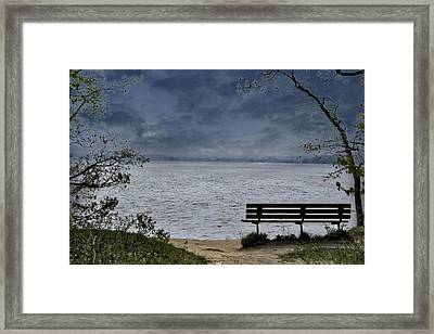 Moody Illinois River Framed Print by Tina Karle