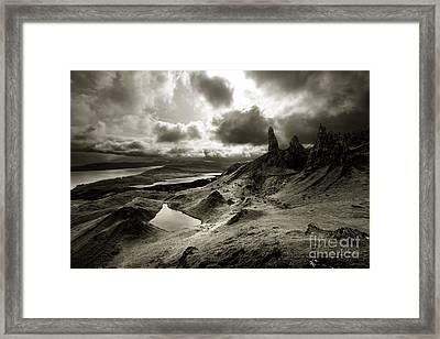 Moody Isle Of Skye Framed Print by Matt Tilghman
