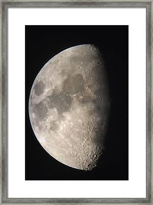 Framed Print featuring the photograph Moon Against The Black Sky by John Short